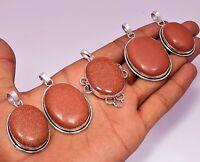 Sunstone & Mix Design Gemstone Pendant 925 Sterling Silver Plated 1pcs Pendants