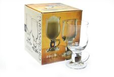 Circleware Crystal Pietra 8oz Glass Coffee Cappuccino Mugs (Set of 4)