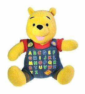 Disney Fisher Price 2001 Winnie the Pooh Singing Alphabet Song Plush A to Z READ