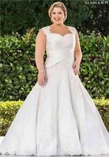 wedding dress brides size plus 16 18 20 22 24 28 30 32 34 corset back Bergman