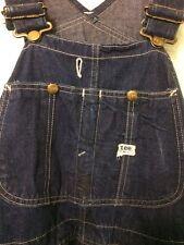 Vtg Lee Jelt Denim Overalls Blue Work Jeans Railroad Carpenter Painter Pants 50s