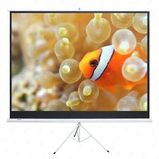 New listing 100'' 16:9 Projector Movie Tripod Projection Screen Matte White Portable Pull-Up