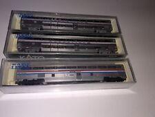 Kato N scale Amtrak 2 Superliner Coach &1 Coach Dorm lot