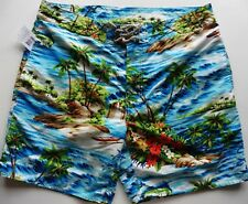 MEN SWIM SHORTS RALPH LAUREN 36 trunk PALM ISLAND mesh lined  NEW TAG £99