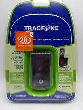 Motorola W260g Black TracFone GSM Cellular Phone flip plus airtime card NIB
