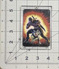 1986 GI joe Milton Bradley Action Card series 1 #8 Snake eyes v2 Ninja & Timber