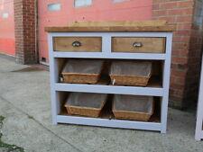 Solid Pine Freestanding Shop Display Cabinet, with Drawer Shelf and splashback
