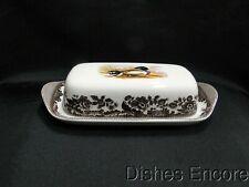 Spode Woodland Mallard Duck: Covered Butter Dish w/ Lid, Box