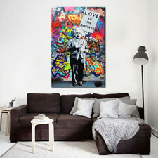 Canvas Wall Art Large Graffiti Giclee Art Prints Love Is The Answer 24X36