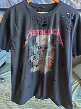 Metallica T Shirt Topshop And Finally Size XL Men's distressed look