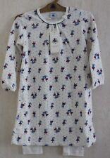 Neuf : Pyjama chemise de nuit PETIT BATEAU 4 ans blanc parapluies velours fille