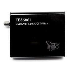Tbs 5881 Dvb-t2/t/c - caja sintonizador TV Híbrido digital con interfaz CI Po