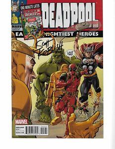 Deadpool #5 ONE MINUTE LATER Variant signed Scott Koblish COA NM