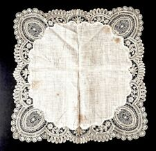 Antique Lace Bridal Hanky Handmade