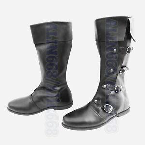 Medieval Leather Shoes Reenactment Mens Shoe Larp Role Play Renaissance Boots
