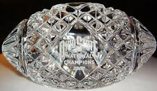 Waterford Crystal Ohio State 2007 Champions Crystal Football Figurine (NEW)