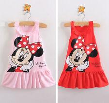 Lovely Infantil Bebé Niña Minnie Mouse Vestido De Fiesta Camiseta Falda Bebé