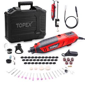 Heavy Duty 200W Rotary Tool Set Grinder Sander Polisher Flex Shaft Multi Acces.
