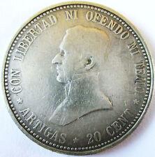URUGUAY .1920 .SILVER 20 CENT REPUBLICA ORIENTALE DEL URUGUAY .25 MM
