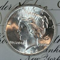 * 1924-P * CHOICE - GEM BU MS PEACE SILVER DOLLAR * FRESH FROM ORIGINAL ROLL *