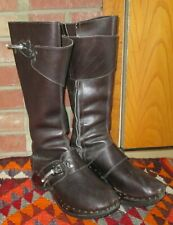 New listing Vintage 1970s Italian Famolare Paysannerie Leather Clog Boots