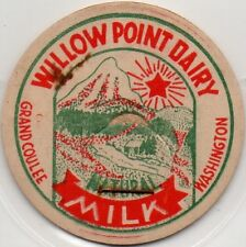 Milk Bottle Cap - Willow Point Dairy - Grand Coulee, Washington