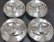 4 pcs, Toyota, 62MM, Chrome's, #42603-12730, Camry, Corolla, Solara, Sienna