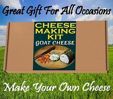 2 x Cheese Making KIT GOAT CHEESE  Great Gift Present Birthday Make Your Own