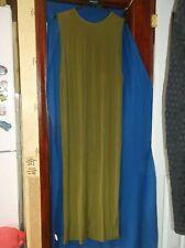 LADIES DRESS...LONG...OLIVE SAGE GREEN...V BACK..PLUS SIZE 18...H & M...NWT..NWT