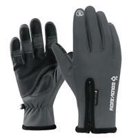 Winter warm windproof waterproof non-slip thermal gloves screen B7N2