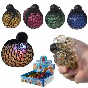Squeezable Rainbow Ball LED IN Net New Colour Change Morph Ball Stress Relievers
