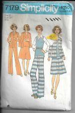 New ListingSimplicity 7179, Vintage Sewing Pattern, Size 12 Misses' Unlined Jacket, Dress