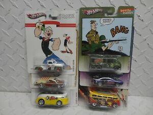 Hot Wheels Pop Culture Comic Book Characters  (6) Car Set