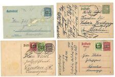 Germany: Bayern; 4 Postal Stationery , used, 7,5-10-15-25, VF-XF, EBA042