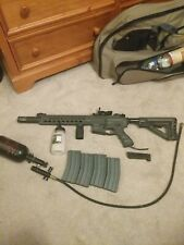 airsoft G And G Predator HPA with tank and line, and 4 mid cap mags