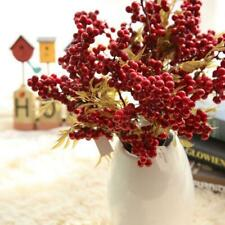 1PCS 1 Bunch Artificial Red Berry Flower Bean Home Display Xmas Party Decoration
