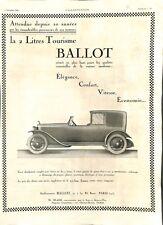 Publicité Automobile de tourisme Ballot Voiture 2 Litres Boulevard Brune 1922