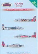 Icarus 1/48 decal Republic F-84G Thunderjets - Hellenic AF Pt.2 #48017