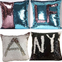 Dual Colors Glitter Sequins Cushion Cover Throw Pillow Case Car Home Decor cd