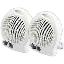 2X 1000W/2000W Portátil Silencioso Ventilador Calefactor Eléctrico Calentador Hot & Cool ligero