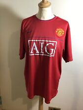 MANCHESTER UNITED TRAINING FOOTBALL SHIRT 2009/2010 NIKE AIG SIZE L See Photos