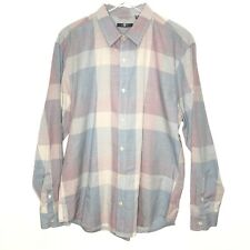 7 For All Mankind Mens Shirt Casual Dress Button Down Plaid Size XXL Cotton