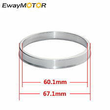 4pcs Hub Centric Rings 67.1mm to 60.1mm Alloy Aluminum Hubrings