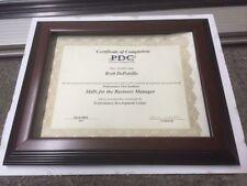 "1.5""  WOOD Diploma/Document Frames (Styles in Mahgy,Walnut, & Black Profiles)"