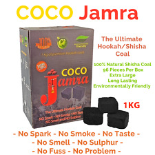 Coco Jamra Natural Shisha Pipe Hookah Coconut Coal-1KG - UK