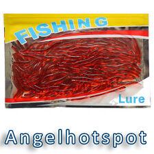 100 Würmer | Gummiwurm 35mm | Rot Regenwurm | Kunstköder | Würmer | Angelhotspot