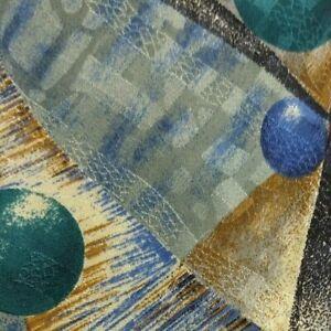 Blue Green Pastel Abstract Silk DIOR Tie
