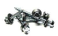 (250) 10 x 1-1/2 Hex Head Sheet Metal Screws Neoprene Washer (Roofing screws)