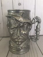 Vintage Pewter Man's Face Mug