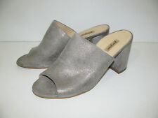 Paul Green Beige Metallic Cuir Mules Sandales Chaussures Taille 6,5/40 NEUF